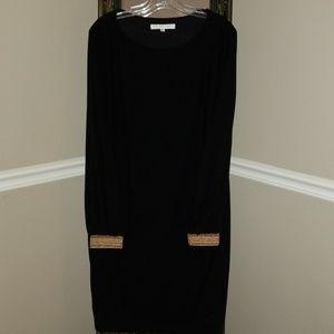Trina Turk black raglan-sleeved dress, size L